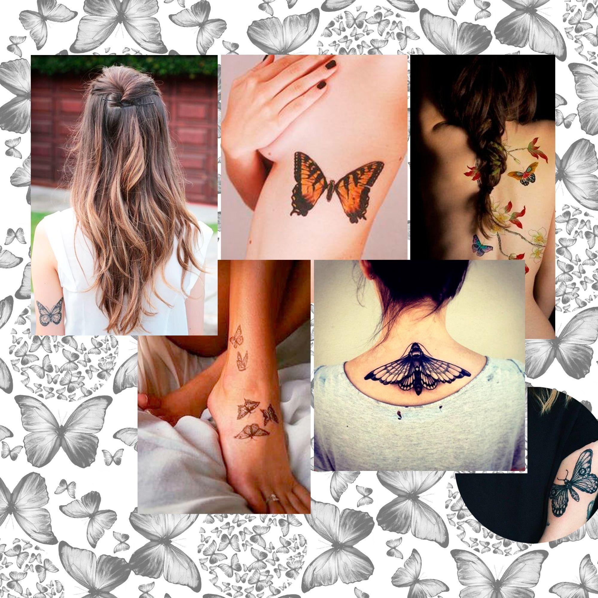 tatouage papillon les plus jolis mod les de tatouages papillons elle. Black Bedroom Furniture Sets. Home Design Ideas