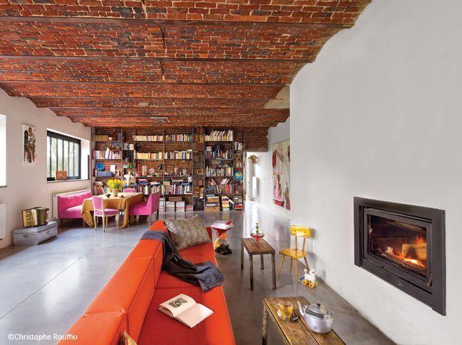 la reconversion d 39 une grange elle d coration. Black Bedroom Furniture Sets. Home Design Ideas