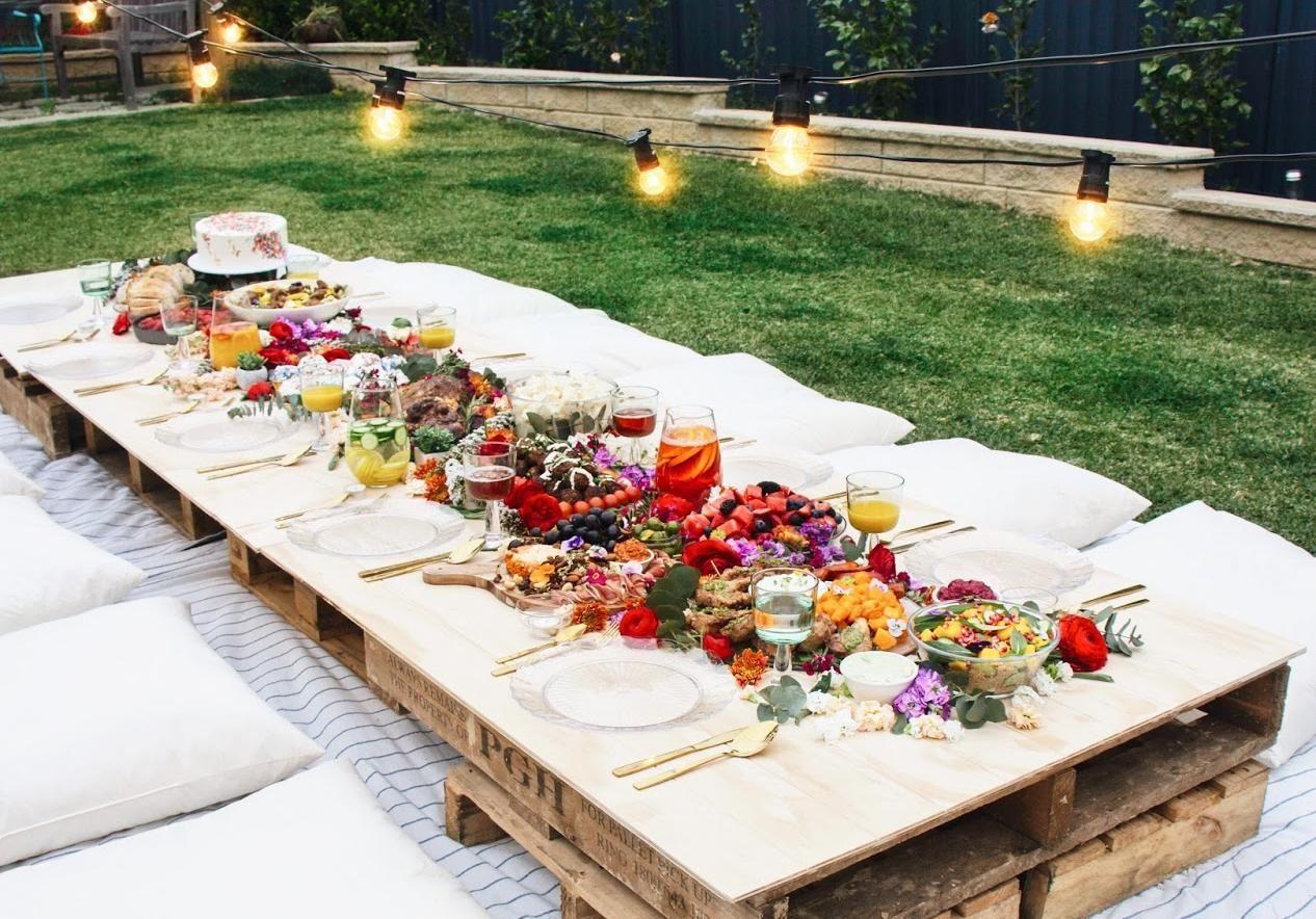 30 id es d co pour une garden party canon elle d coration. Black Bedroom Furniture Sets. Home Design Ideas