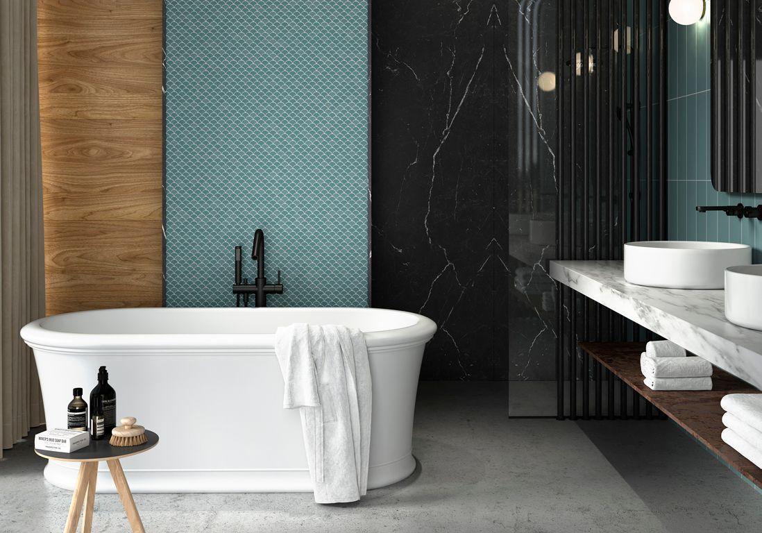 35 salles de bains design elle d coration for Les photos de salle de bain
