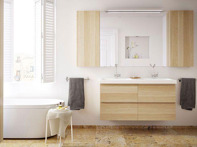 Une salle de bains comme chez ikea elle d coration for Elle deco salle de bain