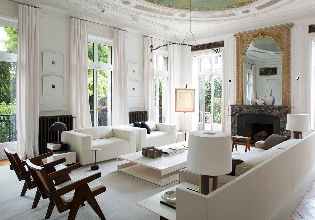 Paris : découvrez le sublime hôtel particulier de Stéphane Parmentier