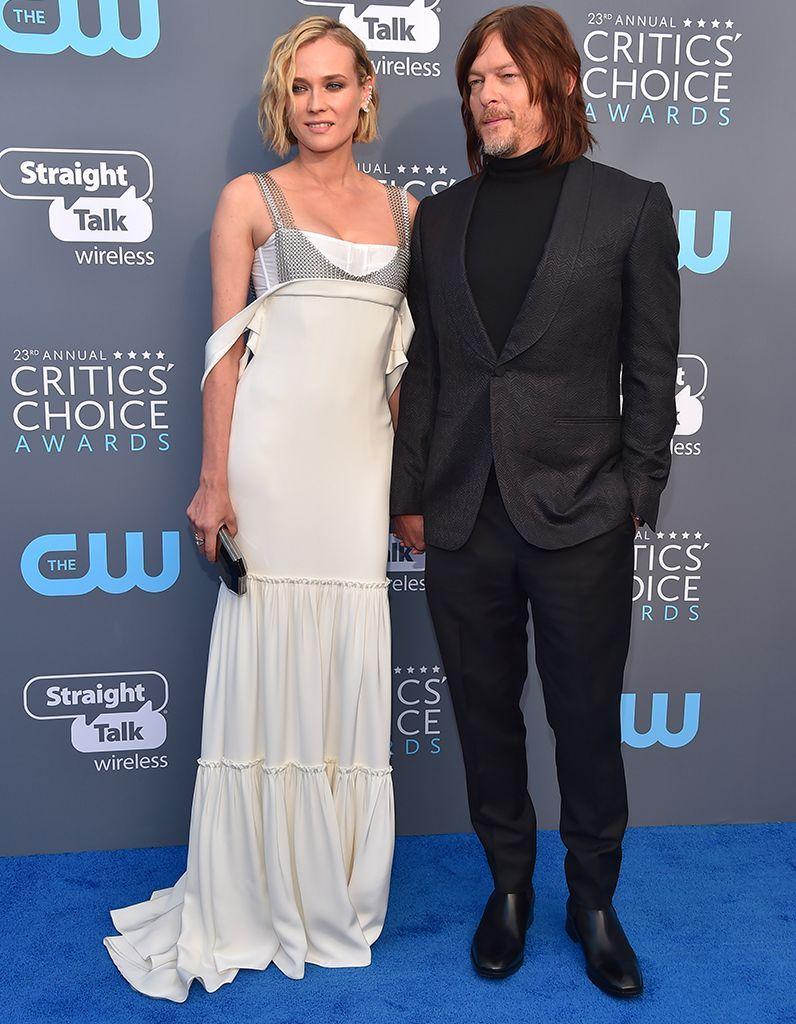 Critics Choice Awards : tapis rouge amoureux pour Diane Kruger et Norman Reedus