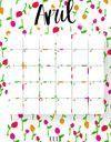 Imprimez votre calendrier du mois d'avril !