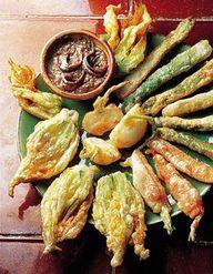 Tempura de fleurs de courgette pour 4 personnes recettes elle table - Cuisiner les fleurs de courgette ...