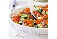 Salade de tomate, concombre et coriandre