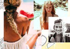 25 idées pour une jolie coiffure de plage