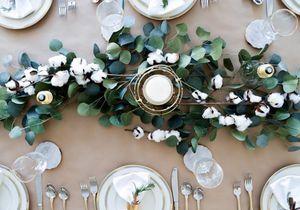 La décoration de table d'hiver a tout pour plaire !