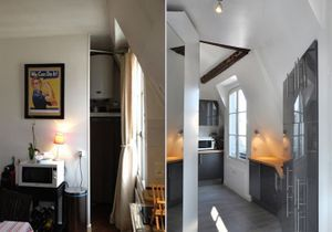 La transformation de chambres de service en appartement design