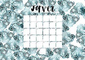Imprimez votre calendrier du mois de janvier !