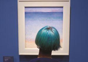 Il photographie les gens assortis aux œuvres d'arts dans les musées