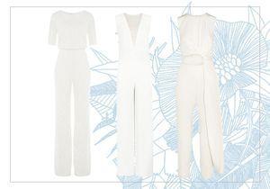 30 combinaisons blanches pour moderniser la robe de mariée