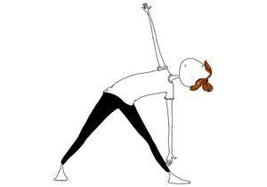 La posture du triangle