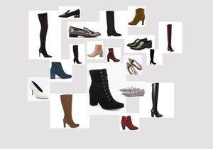 45 paires de chaussures soldées à shopper