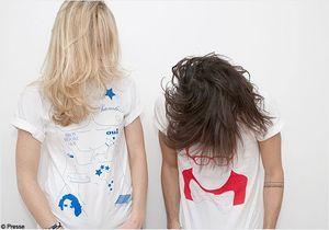 Alber Elbaz et Marc Jacobs sérigraphiés en T-shirt Blanc