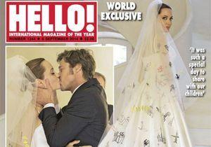 Angelina Jolie : sa robe de mariée customisée par ses enfants