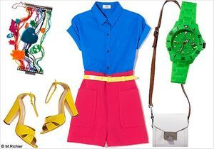 Le look de la semaine : preppy color