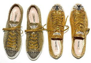 Les sneakers Miu Miu, le revival disco