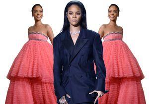 Pourquoi elle est bien : Rihanna, sa robe bonbon et son tailleur pantalon