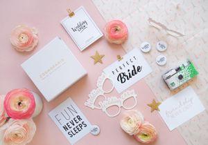 L'instant mode : Cosmoparis lance une box dédiée aux futures mariées et à leurs demoiselles d'honneur.