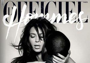 Kanye West et Kim Kardashian dévêtus pour « L'Officiel Hommes »