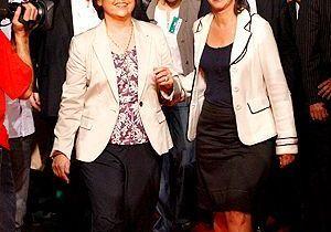 Royal et Aubry en blanc : l'unité fashion !