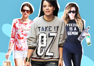 Les stars passent le message sur leurs T-shirts!