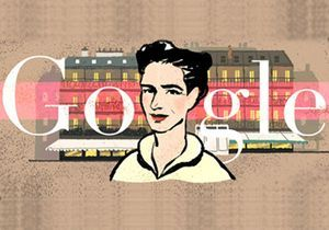 Simone de Beauvoir star de Google