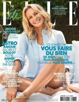 Estelle Lefébure en couverture de ELLE cette semaine