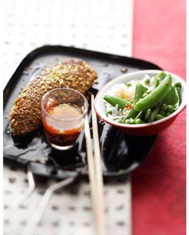 poulet pan aux cacahu tes wasabi pour 4 personnes recettes elle table. Black Bedroom Furniture Sets. Home Design Ideas