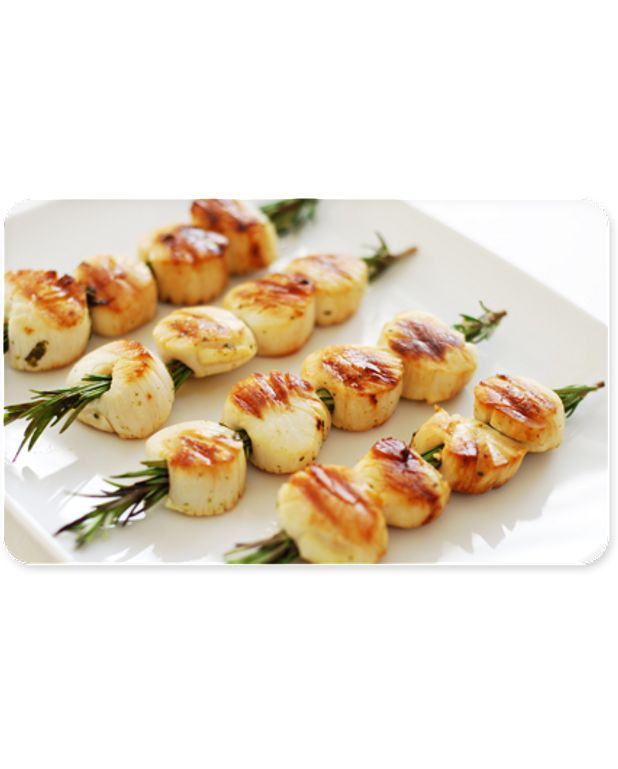 brochettes de coquilles st jacques pour 4 personnes recettes elle table. Black Bedroom Furniture Sets. Home Design Ideas