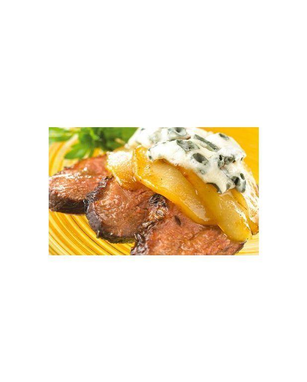 Magrets de canard poires caram lis es et roquefort pour 4 personnes recettes elle table - Cuisson magret canard au four ...