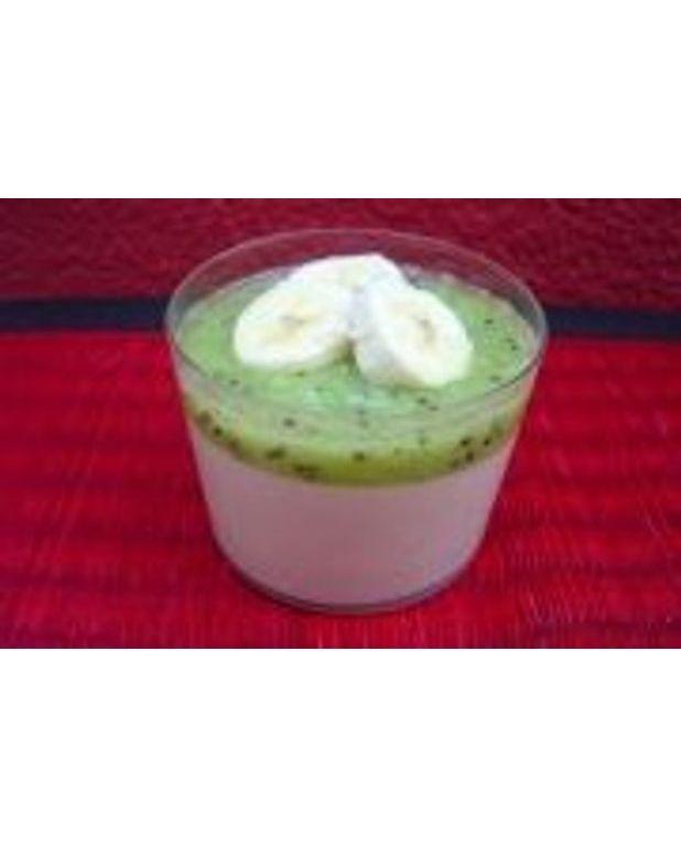 cr 232 me au lait de coco kiwi et bananes pour 4 personnes recettes 224 table