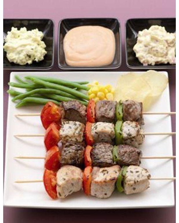 Brochettes de viande la sauce ren pour 8 personnes - Comment faire une brochure avec open office ...