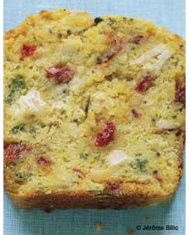 Cake Mozzarella Tomate Sechee