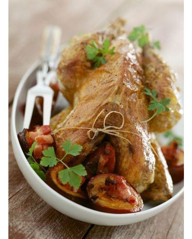Cuisses de pintade grill e coulis de poivrons et basilic - Comment cuisiner des cuisses de pintade ...