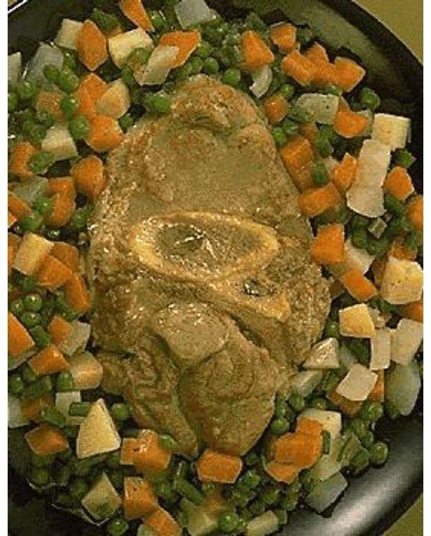 Jarret de veau printani re pour 4 personnes recettes elle table - Jarret de veau au four ...