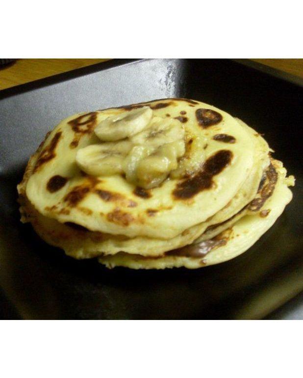 Pancakes nutella banane pour 4 personnes recettes elle table - Recette pancakes herve cuisine ...
