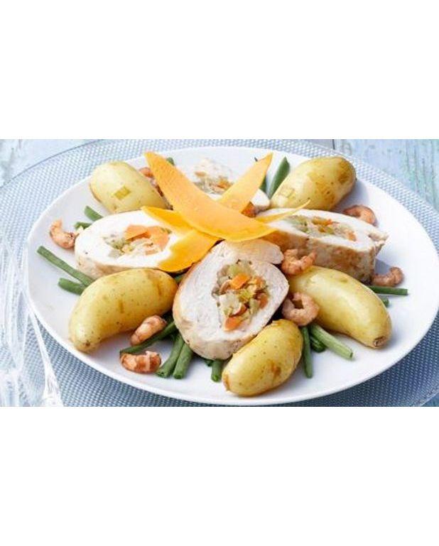 Pommes de terre et chapon farci dans un bouillon de for Cuisine un chapon