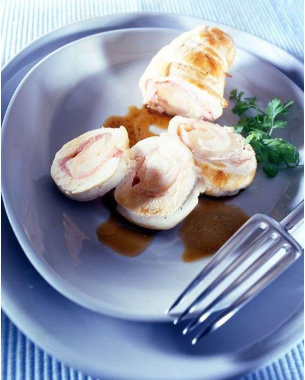 Rouleaux de poulet au jambon fromage recettes elle table - C est au programme recettes de cuisine ...