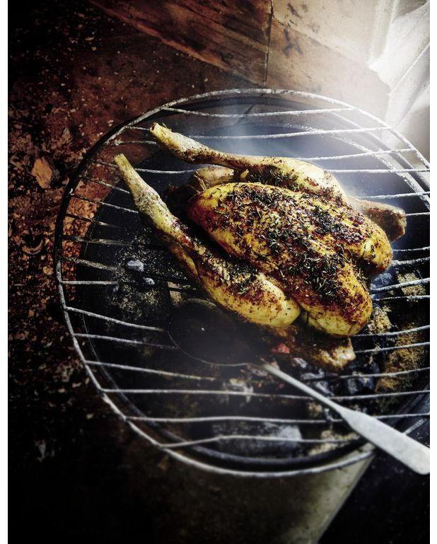 Poulet r ti au feu de bois pour 4 personnes recettes - Cuisine au feu de bois ...