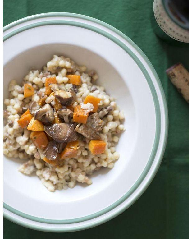 Risotto de fregola butternut et shiitak s pour 4 personnes recettes elle table - Risotto noel ...