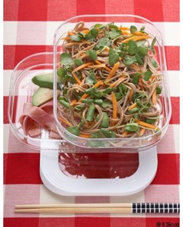 soba en salade au cresson pour 4 personnes recettes elle table. Black Bedroom Furniture Sets. Home Design Ideas