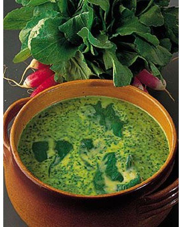 soupe aux fanes de radis pour 4 personnes recettes 224 table