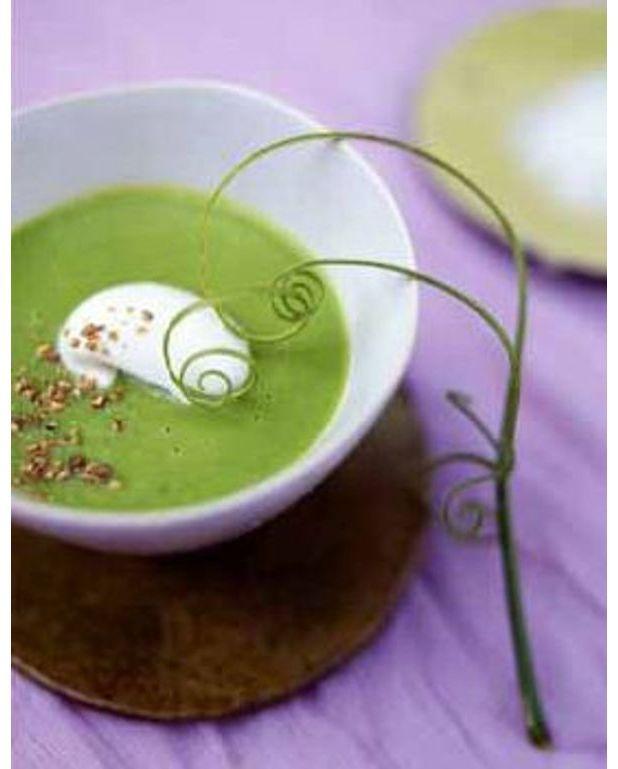 Soupe de petits pois pour 4 personnes recettes elle table - Petite recette de cuisine ...