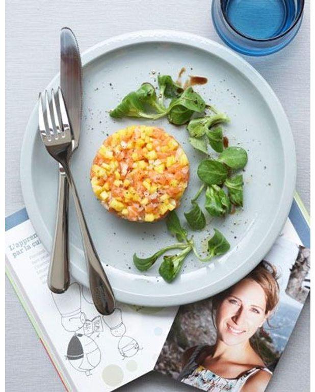 tartare saumon mangue pour 4 personnes recettes elle table. Black Bedroom Furniture Sets. Home Design Ideas