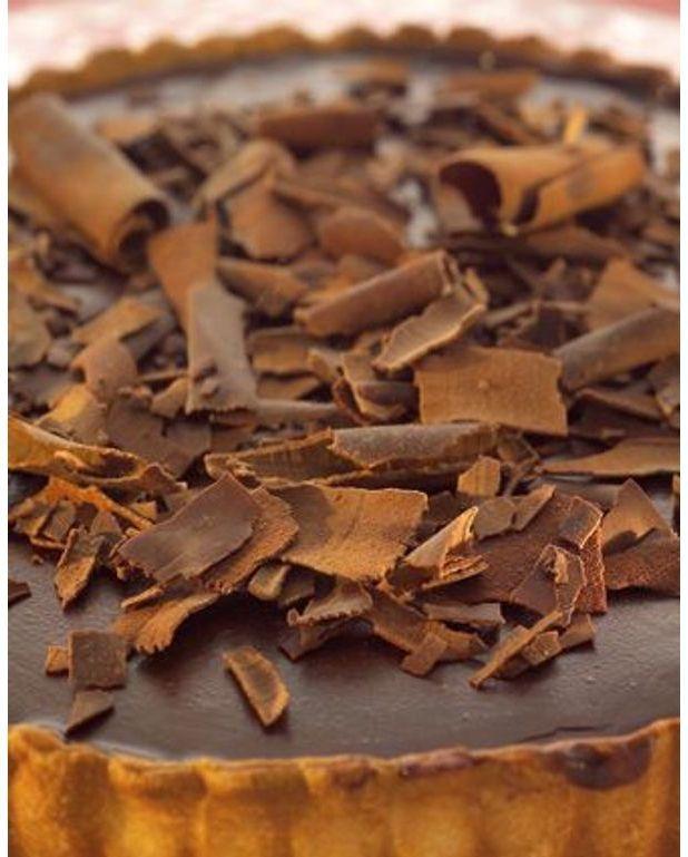 Tarte au chocolat pour 6 personnes recettes elle table - Tarte au chocolat sans oeuf ...