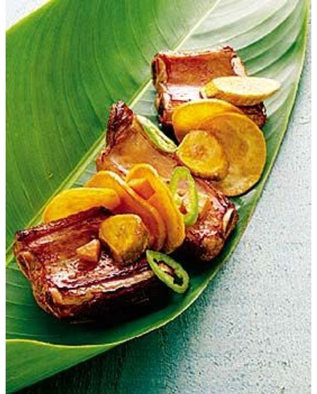 Travers de porc aux l gumes antillais pour 4 personnes - Cuisine antillaise facile ...