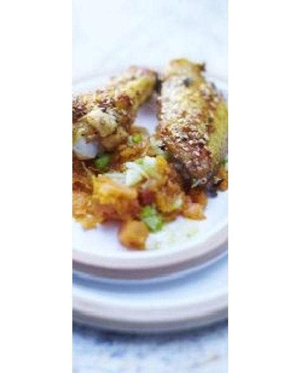 Ailes de poulet grill es pur e de patates douces pour 6 personnes recettes elle table - Recette poulet patate douce ...