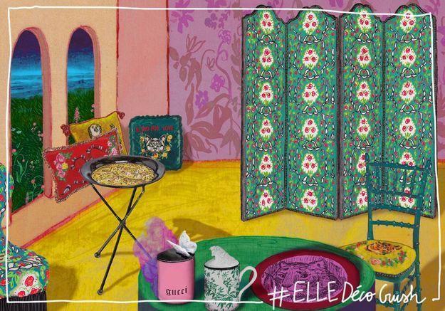 #ELLEDécoCrush : Gucci se lance dans la déco d'intérieur !